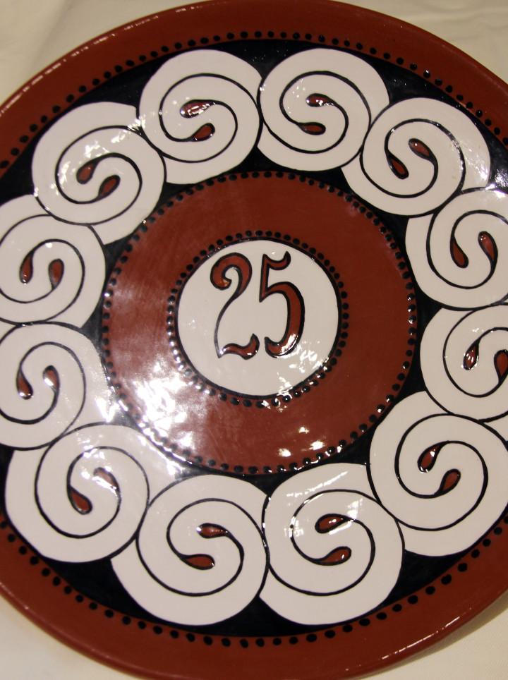 25th Anniversary Ceramic Plate & 25th Anniversary Ceramic Plate   Arka Store